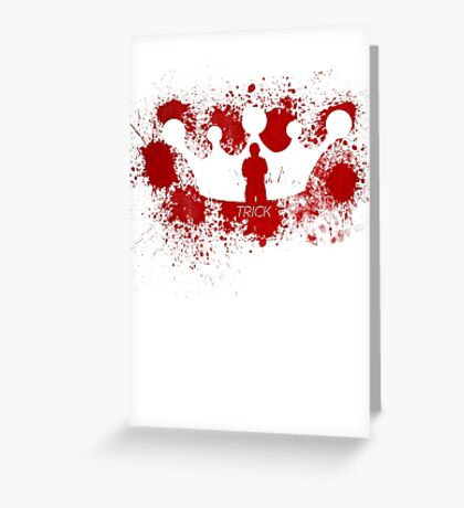 Trick The Blood King, Lost Girl Greeting Card