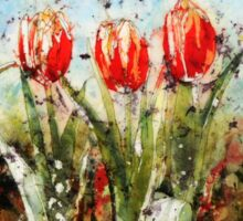 Tulips in Red Sticker