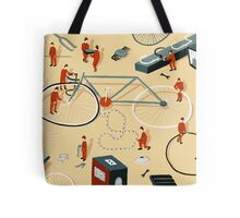 Bicycle building Tote Bag