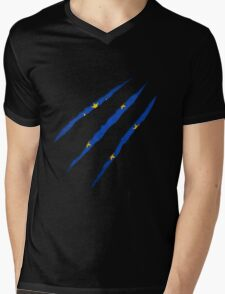 Europe flag Mens V-Neck T-Shirt