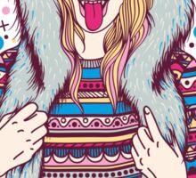 Wolf Girl Sticker
