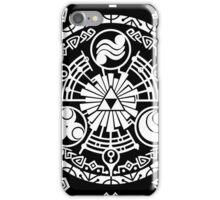 Zelda Time Portal Minimal Design Skyward Sword Black Version iPhone Case/Skin