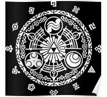 Zelda Time Portal Minimal Design Skyward Sword Black Version Poster