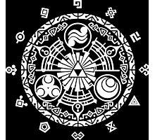 Zelda Time Portal Minimal Design Skyward Sword Black Version Photographic Print