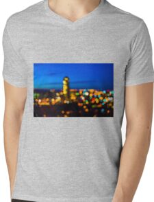 Bokeh Mens V-Neck T-Shirt