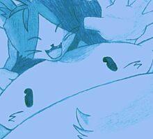 Cait Sith (Final Fantasy VII) (blue) Sticker