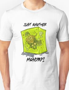 Just another monday - with black text Unisex T-Shirt