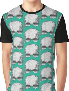 Grey pencil Skull Graphic T-Shirt