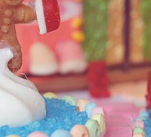 Candyland surreal photography with gingerbread man Sticker