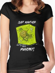 Just another monday - with white text Women's Fitted Scoop T-Shirt