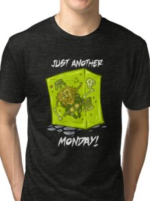 Just another monday - with white text Tri-blend T-Shirt