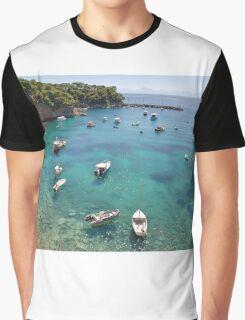 Votsi harbour, Alonissos Graphic T-Shirt
