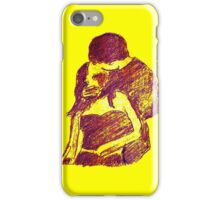 universal kiss in purple with yellow background iPhone Case/Skin