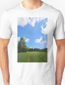 Summer landscape view with meadow road T-Shirt