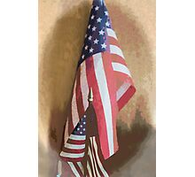 US Flags Photographic Print