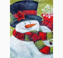 Snowman Wearing Scarf Unisex T-Shirt