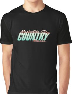 Nashville City Country Music    Graphic T-Shirt