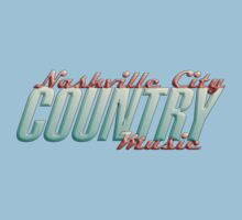 Nashville City Country Music    One Piece - Short Sleeve
