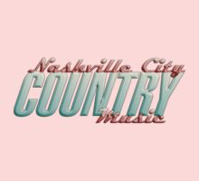 Nashville City Country Music    Baby Tee