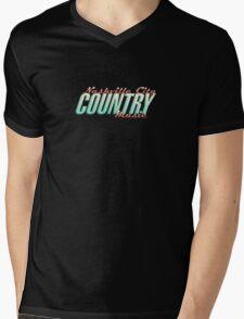 Nashville City Country Music    Mens V-Neck T-Shirt