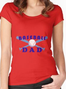 Baseball dad Women's Fitted Scoop T-Shirt