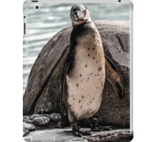 Poser Penguin (Grayscale) iPad Case/Skin