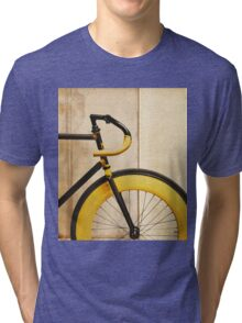 Bike With Yellow Details Tri-blend T-Shirt