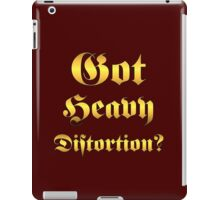 Got Heavy Distortion Gold iPad Case/Skin