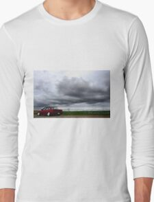 Stormy day for a drive Long Sleeve T-Shirt