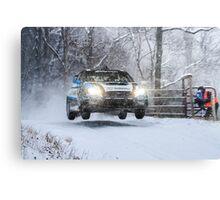 Subaru Rally Car Canvas Print