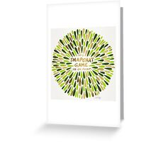 Snapchat – Green & Gold Greeting Card