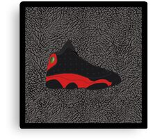Air Jordan 13 Bred (Elephant print background) Canvas Print