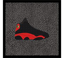 Air Jordan 13 Bred (Elephant print background) Photographic Print