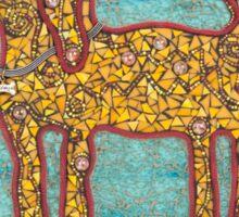 Durango, the Yellow Dog - Mixed Media Mosaic Sticker