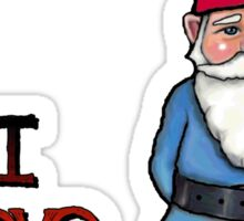 I Love Gnomes: Cute Hand Drawn Gnome Sticker