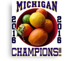 Wolverines! Bowl Champions Again! Canvas Print
