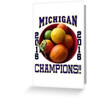 Wolverines! Bowl Champions Again! Greeting Card