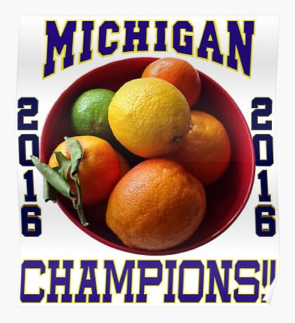 Wolverines! Bowl Champions Again! Poster