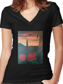 Dark Tower Women's Fitted V-Neck T-Shirt