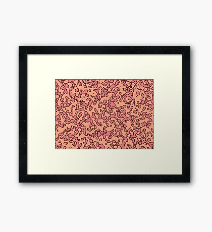 Peach Framed Print
