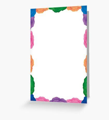 Flowery Frame Greeting Card