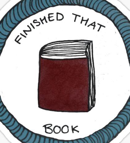 Finished that Book Achievement Badge Sticker