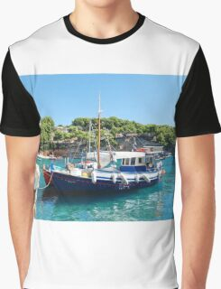 Votsi fishing boats, Alonissos Graphic T-Shirt