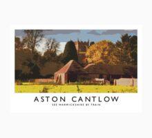Aston Cantlow (Railway Poster) Kids Tee
