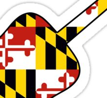 Maryland flag guitar  Sticker