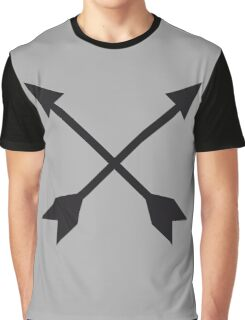 Hipster Crossed Arrows Graphic T-Shirt