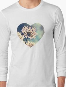 Queen Annes Lace flowers Long Sleeve T-Shirt