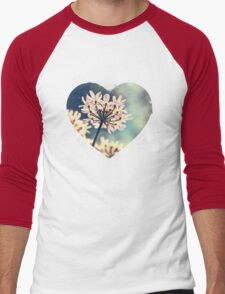 Queen Annes Lace flowers Men's Baseball ¾ T-Shirt