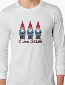 I Love Gnomes: Cute Hand Drawn Gnomes Long Sleeve T-Shirt