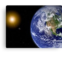 Digitally enhanced planet Earth. Canvas Print